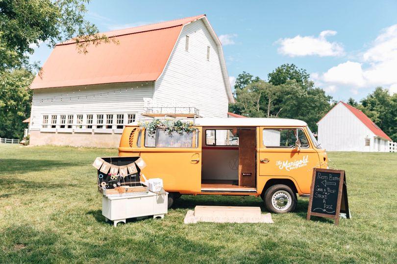 Marigold photo van outside of
