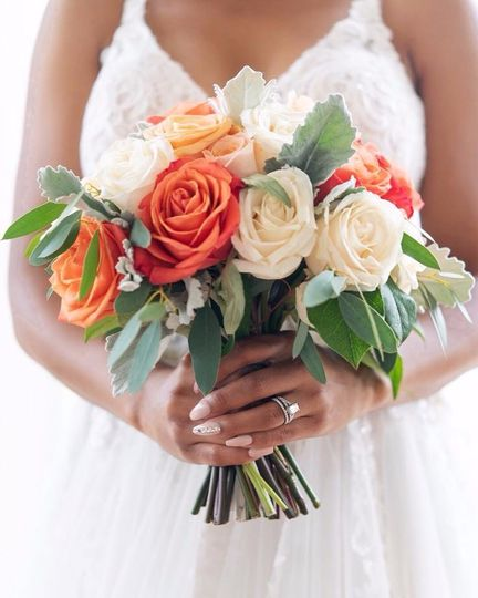 Orange Theme Wedding