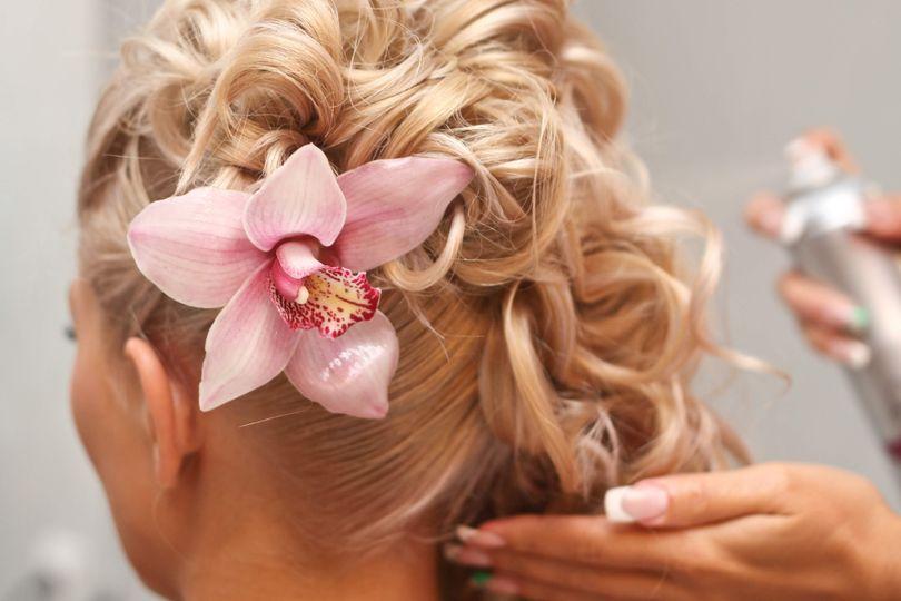 Bridal hair Weaverville nc