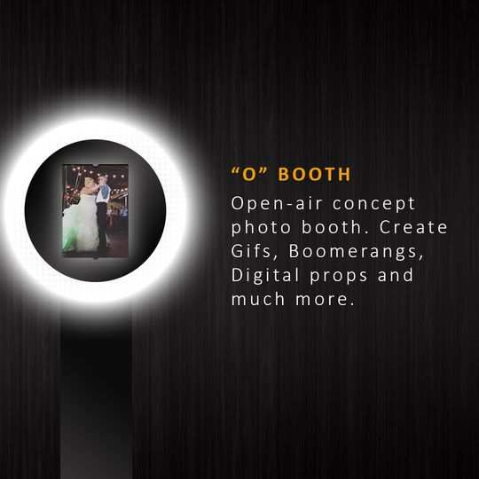 Open-air concept photo booth