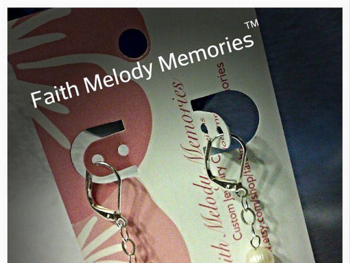 Tmx 1470951614387 White Freshwater Dangle Earrings Smithboro wedding jewelry