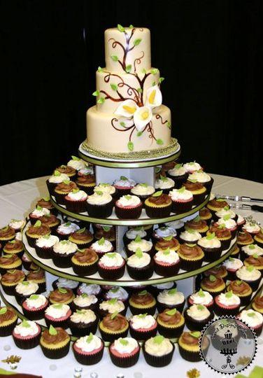 Busheri & Peters Wedding Cupcake Tower