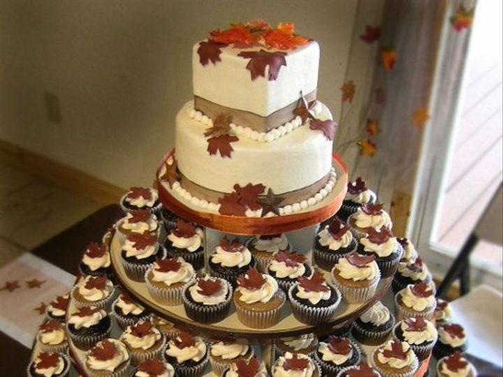 Tmx 1235490287981 FallLeavesSweetCakeTower Pittsburg wedding cake