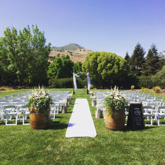 Ceremony at a private home