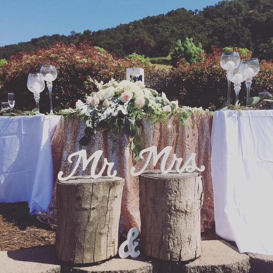Outdoor head table