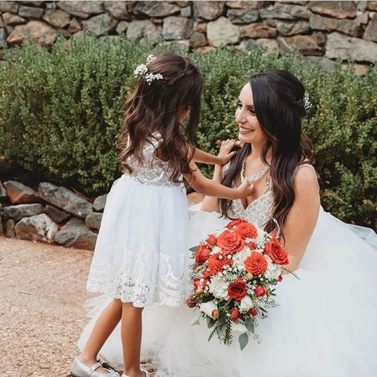 Flower girl & bride