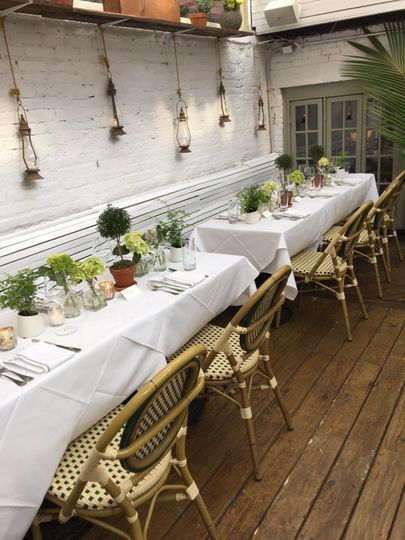 Garden with retractable roof