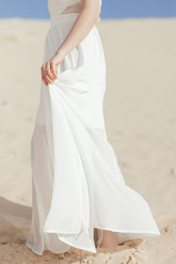Holding Dress
