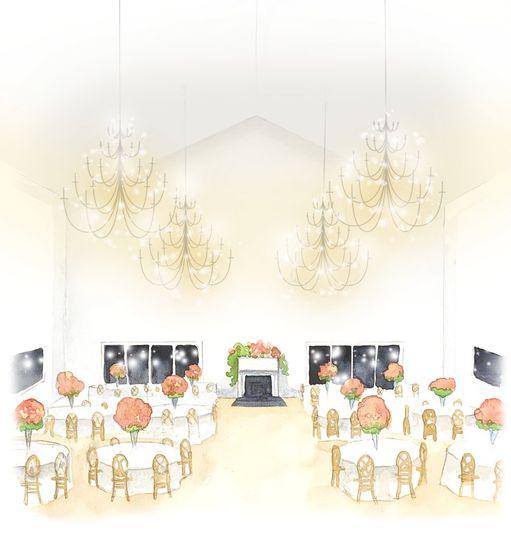 Reception space rendering