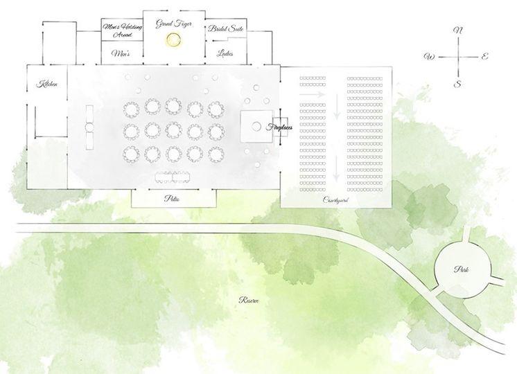 Reception & Ceremony layout