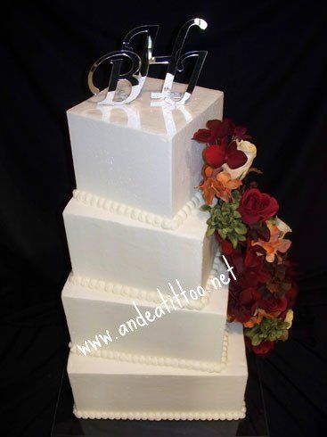 "Twisted, Twisted was a 6"", 8"", 10"" & 12 "". Two tiers wer chocolate rush & two tiers were almond..."