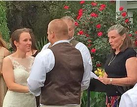 Officiant heading the marriage