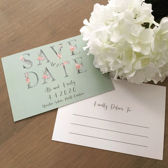 Floral save-the-date