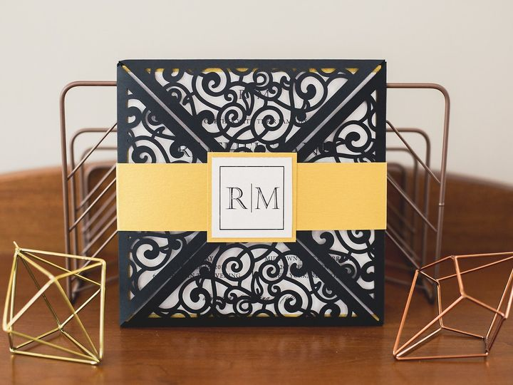 Tmx Black Gold Invite 51 1900965 157670445029257 Stratham, NH wedding invitation