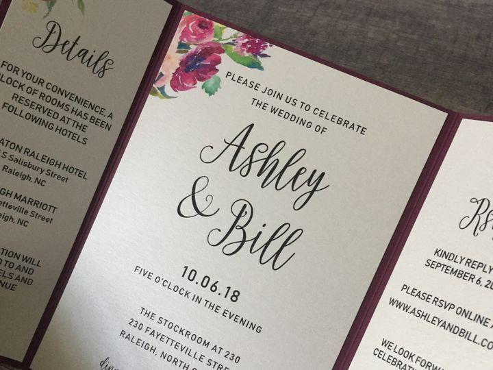 Tmx Burgundy Floral Invite 51 1900965 157670500434387 Stratham, NH wedding invitation
