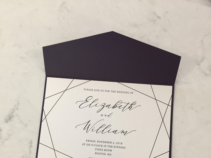 Tmx Geometric Invite 51 1900965 157670436789831 Stratham, NH wedding invitation