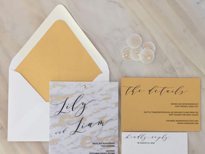 Tmx Marble Invite 1 51 1900965 157670432214646 Stratham, NH wedding invitation