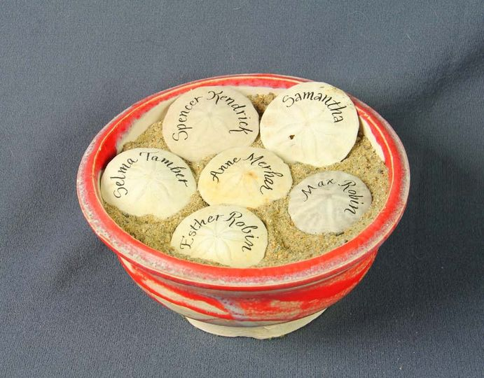 Name cards in a bowl