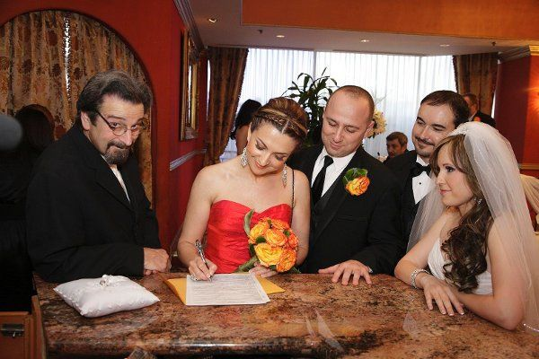 Singing of marriage certificate