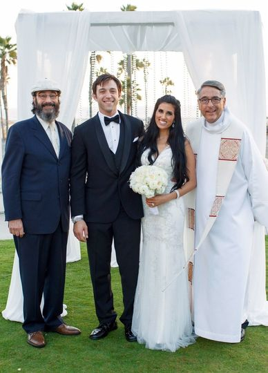 The rabbi and the newlyweds