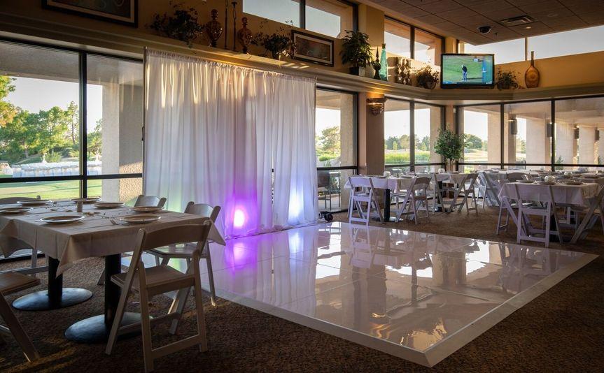 Dance Floor in Restaurant