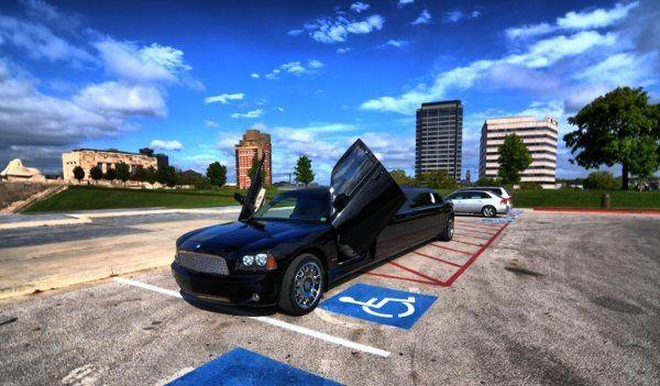 Exterior Of Horizon Limousine's Dodge Charger Limousine