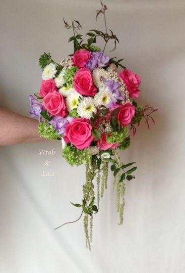 hot pink amaranthus bridal bouquet