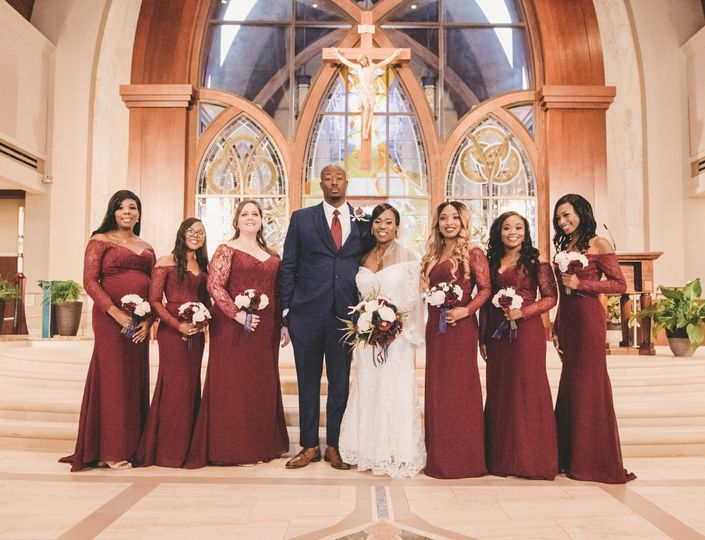 The Newlyweds and Bridesmaids