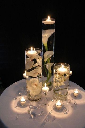 Candle lighting centerpieces