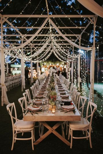 A beautiful banquet table