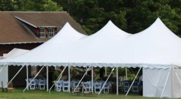 White tent setup