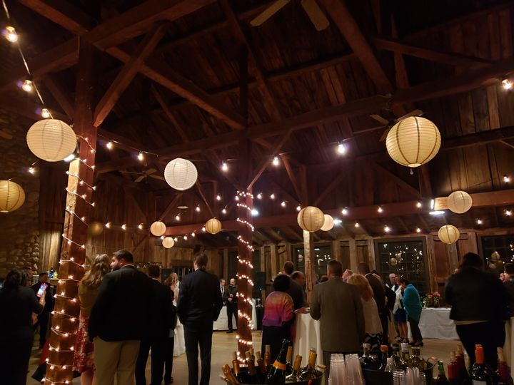 Lights & lanterns in the barn
