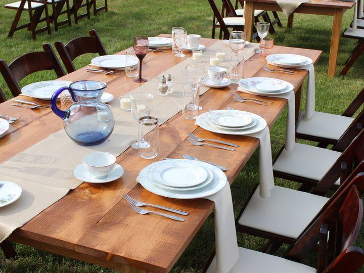 Tmx 1434671949450 Farm Table Mismatch Moultonborough, NH wedding rental