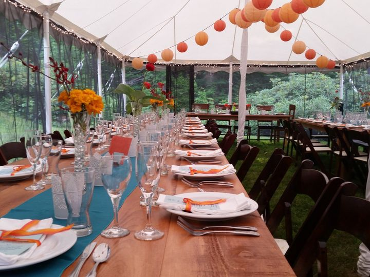 Tmx 1480171691143 Farm Table In Tent Moultonborough, NH wedding rental