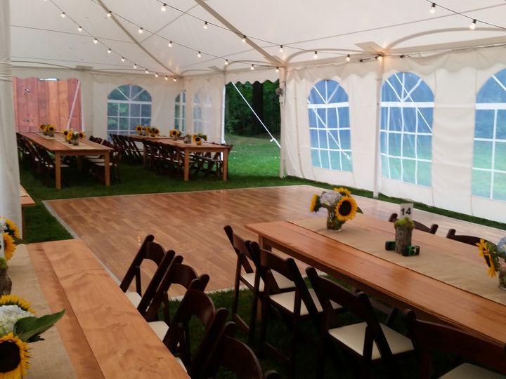 Tmx 1480174202990 Farm Tables In Tent Moultonborough, NH wedding rental