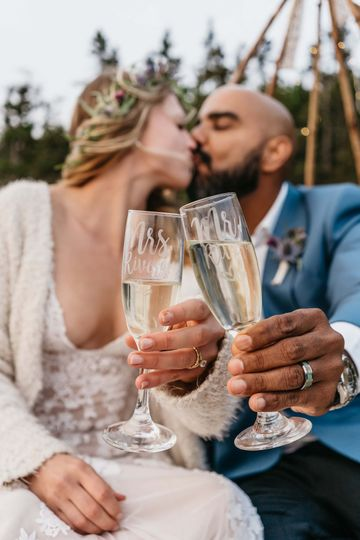 Cheers to the couple!