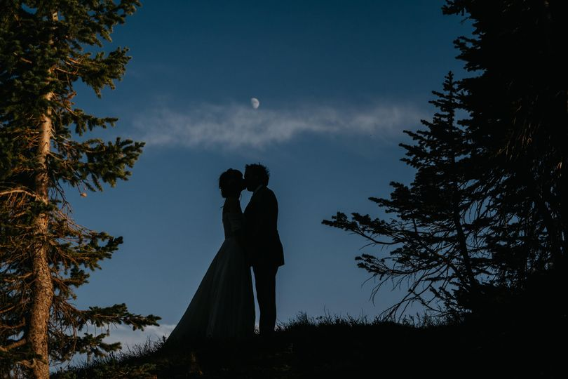 Couple under the moon