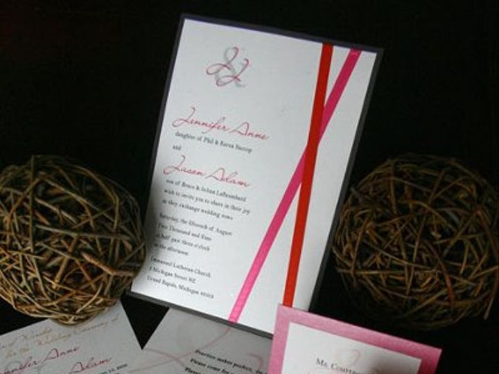 Tmx 1295136705510 IMG8719 Grand Rapids wedding invitation