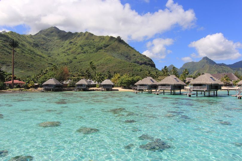 Over Water Bungalows in Tahiti