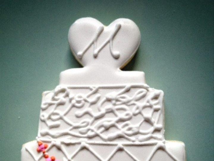Tmx 1443341333753 Wedding Cake Monogram Fullerton wedding favor