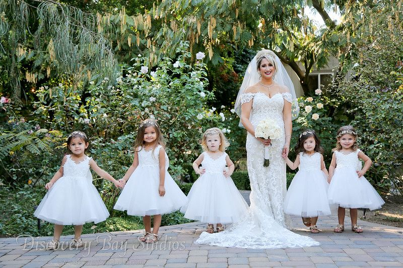 Bride & Flower Girls Rose Gard