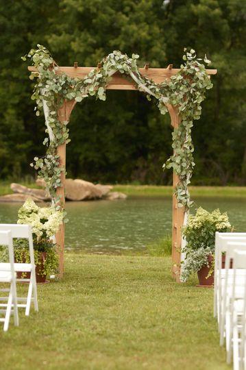 White oak trellis
