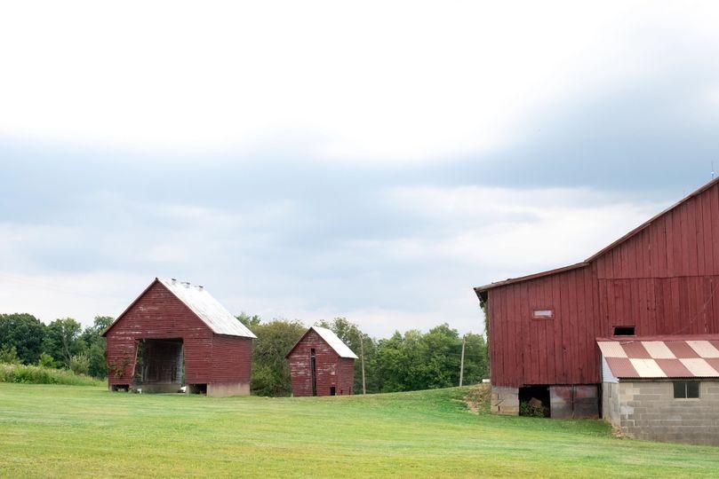 Barn and corn cribs