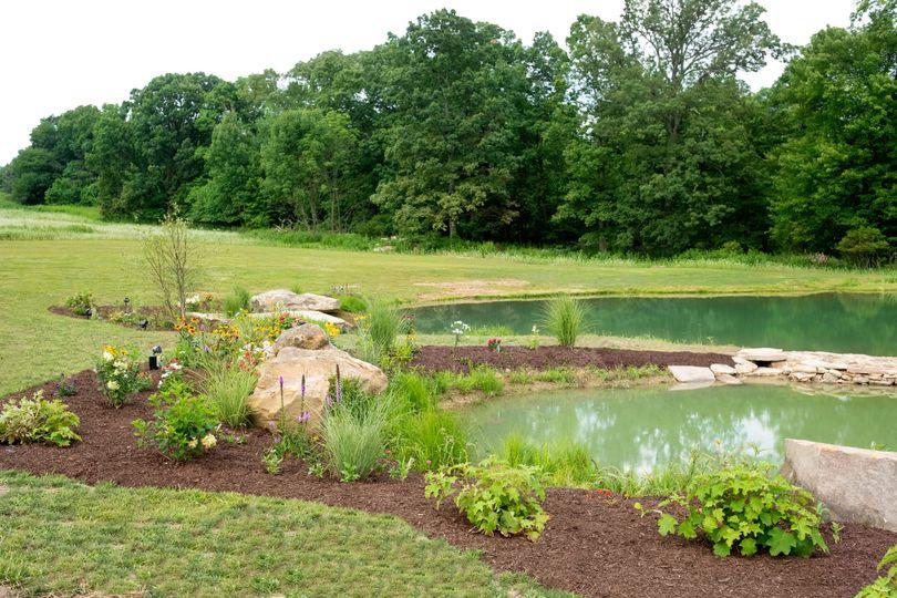 Heart shaped coy pond
