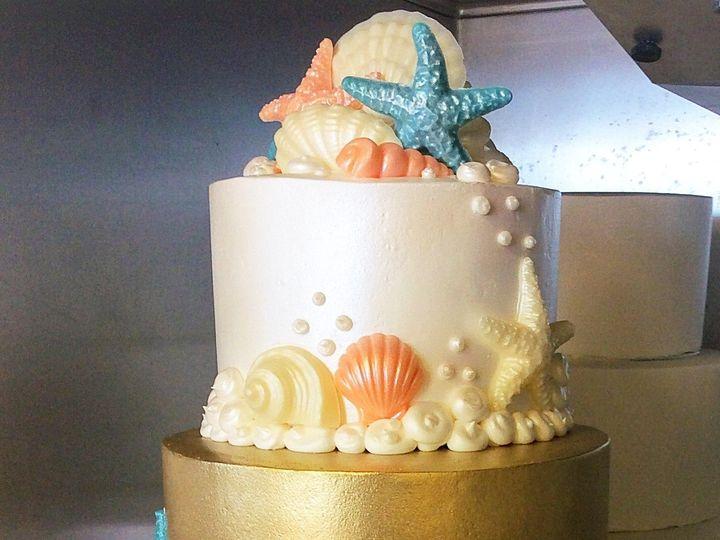 Tmx 1485745359418 Sea Theme Wedding Cake Costa Mesa wedding cake