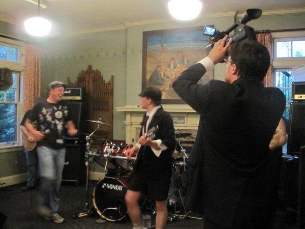 AC/DC cover band at Mark & Melissa Helmicks wedding reception