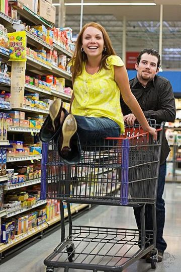 Houston Wedding Photographers Snaptacular Photos grocery store engagement session