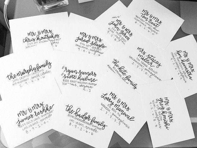 Wedding Invitations Az: Calligraphy And Signage