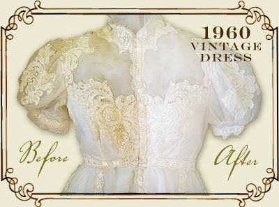 vintage dress1960before and afte