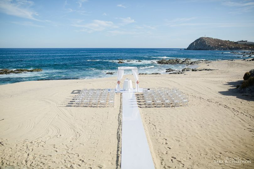 Beach wedding setup